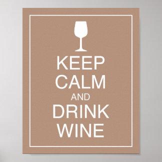 Houd Kalm en drink de Druk van het Poster van de K