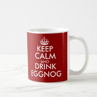 Houd kalm en drink de mok van eierpunchKerstmis
