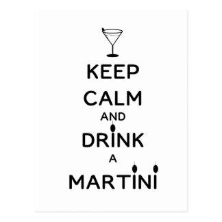 Houd Kalm en drink een Martini Briefkaart
