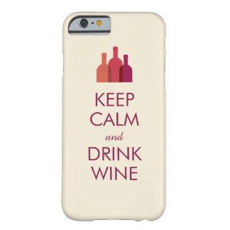 Houd Kalm en drink iPhone 6 van de Douane van de Barely There iPhone 6 Case