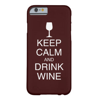 Houd Kalm en drink iPhone 6 van de Wijn hoesje Barely There iPhone 6 Hoesje