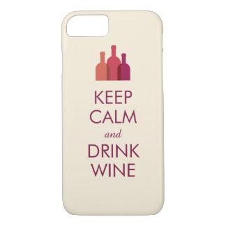 Houd Kalm en drink iPhone 7 van de Douane van de iPhone 7 Hoesje