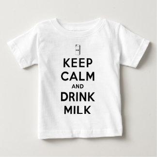 Houd Kalm en drink Melk Baby T Shirts