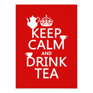 Houd Kalm en drink Thee - Alle Kleuren Kaart