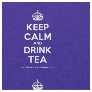 Houd Kalm en drink Thee Stof