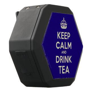 Houd Kalm en drink Thee Zwarte Bluetooth Speaker