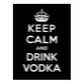 Houd kalm en drink wodka briefkaart