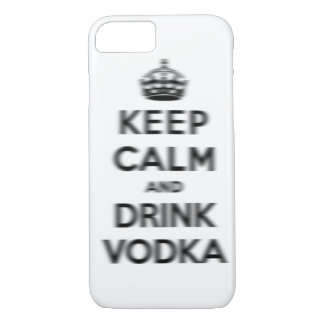 Houd kalm en drink wodka iPhone 7 hoesje