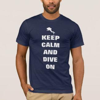 Houd kalm en duik t shirt