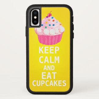 HOUD KALM EN eet Cupcakes iPhone X Hoesje