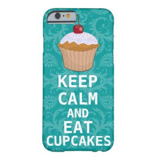 HOUD KALM EN eet Cupcakes veranderingswintertaling Barely There iPhone 6 Hoesje