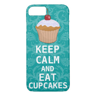 HOUD KALM EN eet Cupcakes veranderingswintertaling iPhone 7 Hoesje