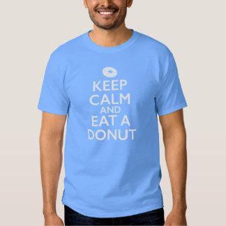 Houd Kalm en eet een Doughnut T Shirt