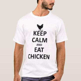 Houd kalm en eet kip t shirt