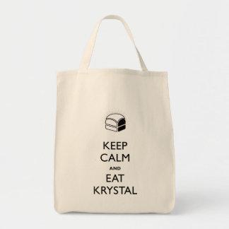 Houd Kalm en eet Krystal Draagtas