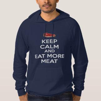 Houd Kalm en eet Meer Vlees Hoodie