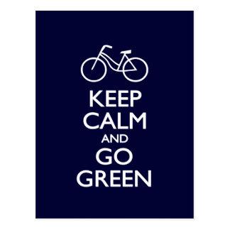 Houd Kalm en ga Groen Briefkaart