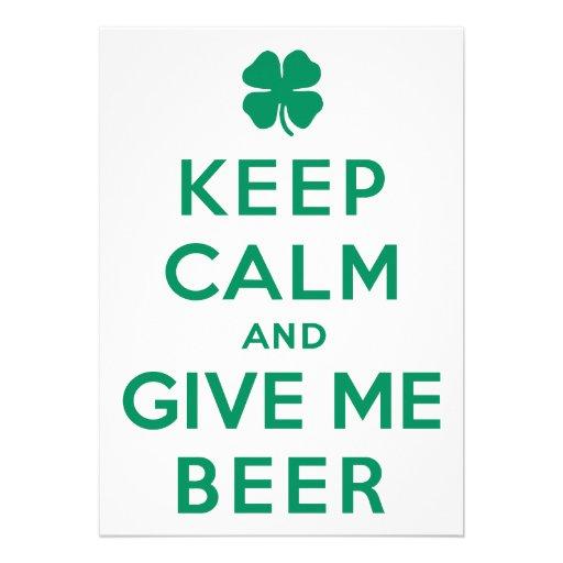 Houd Kalm en geef me Bier Persoonlijke Aankondiging