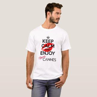 Houd Kalm en geniet van versie 1 van Cannes T Shirt