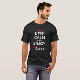Houd Kalm en geniet van versie 2 van Cannes T Shirt