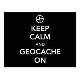 Houd Kalm en Geocache Briefkaart