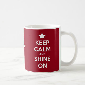 Houd Kalm en glans op Rood Koffiemok