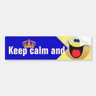 Houd kalm en glimlach bumpersticker