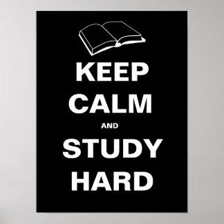 Houd Kalm en Harde Studie Poster
