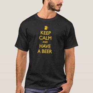 Houd Kalm en hebben een Bier T Shirt