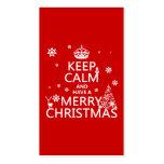 Houd Kalm en hebben Vrolijke Kerstmis (verandering Visitekaart Sjablonen