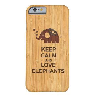 Houd Kalm en het Bamboe van de Olifanten van de Li Barely There iPhone 6 Hoesje