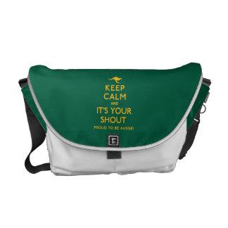 Houd Kalm en het is Uw Schreeuw! Courier Bag