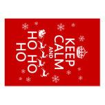 Houd Kalm en Ho Ho Ho - Kerstmis/Kerstman Visitekaartjes