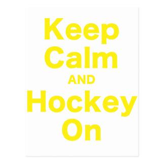 Houd Kalm en Hockey Briefkaart