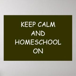 Houd Kalm en Homeschool op Poster