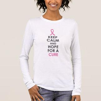 Houd Kalm en Hoop voor Kanker van de Borst van de T Shirts