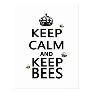 Houd Kalm en houd Bijen Briefkaart