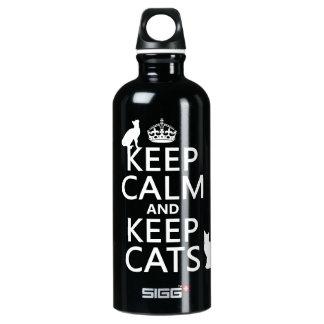 Houd Kalm en houd Katten Waterfles