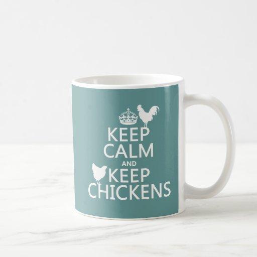 Houd Kalm en houd Kippen (om het even welke achter Beker