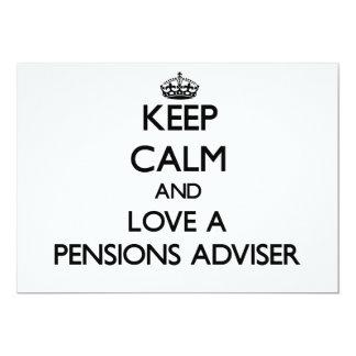 Houd Kalm en houd van een Adviseur van Pensioenen
