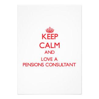 Houd Kalm en houd van een Adviseur van Pensioenen Custom Uitnodging