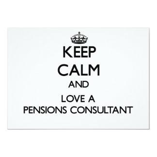 Houd Kalm en houd van een Adviseur van Pensioenen Aankondigingen