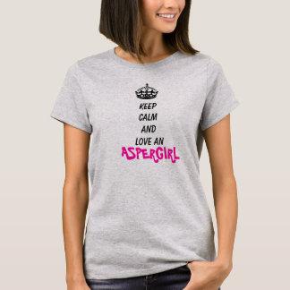 Houd kalm en houd van een Aspergirl T Shirt