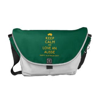 Houd Kalm en houd van een Aussie! Courier Bag