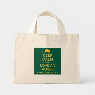 Houd Kalm en houd van een Aussie! Mini Draagtas