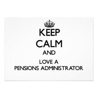 Houd Kalm en houd van een Beheerder van Pensioenen
