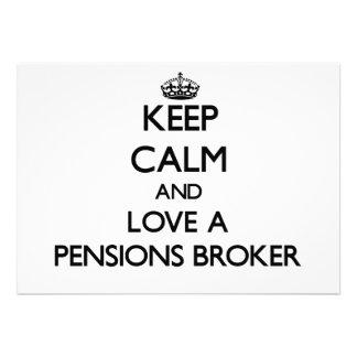 Houd Kalm en houd van een Makelaar van Pensioenen
