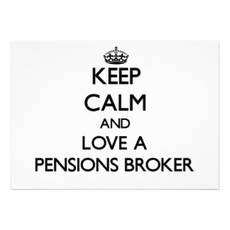 Houd Kalm en houd van een Makelaar van Pensioenen Aankondigingen