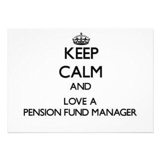 Houd Kalm en houd van een Manager van het Fonds va