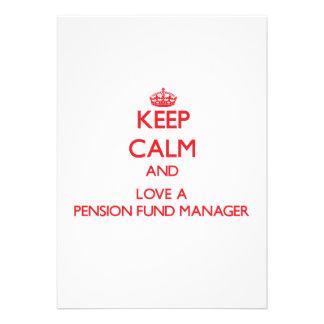 Houd Kalm en houd van een Manager van het Fonds va Persoonlijke Uitnodiging